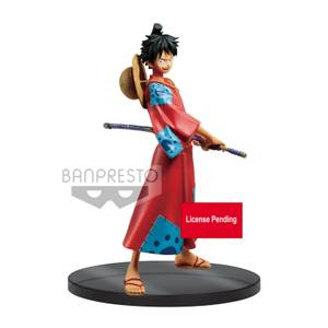 Banpresto One Piece Monkey D. Luffy The Grandline Men Wanokuni DXF Statue