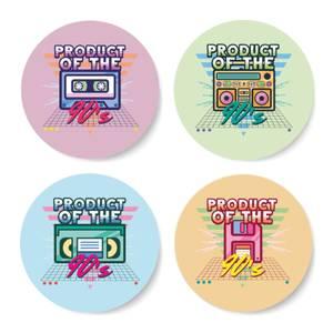 Product Of The 90'S Plain Background Coaster Set Circle Coaster Set