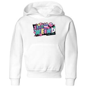 Stay Weird Kids' Hoodie - White