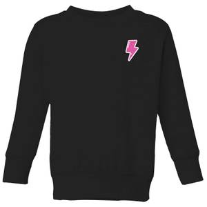Small Lightning Bolt Kids' Sweatshirt - Black