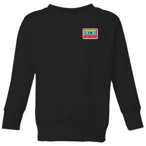 Small Cassette Tape Kids' Sweatshirt - Black