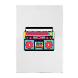 Colourful Boombox Cotton Tea Towel