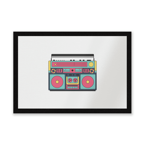 Colourful Boombox Entrance Mat