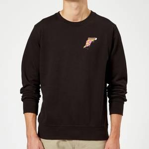 Small Dripping Pizza Sweatshirt - Black