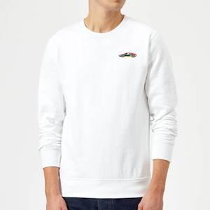 Small Car Sweatshirt - White