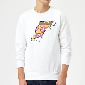 Dripping Pizza Sweatshirt - White