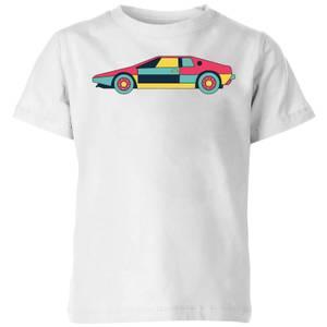 Classic Sports Car Kids' T-Shirt - White