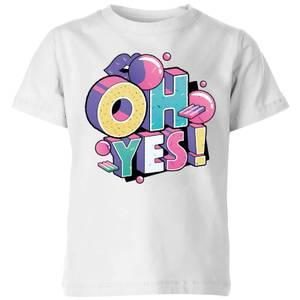 Oh Yes! Kids' T-Shirt - White