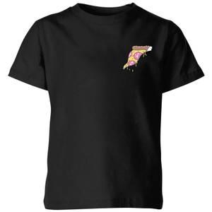 Small Dripping Pizza Kids' T-Shirt - Black