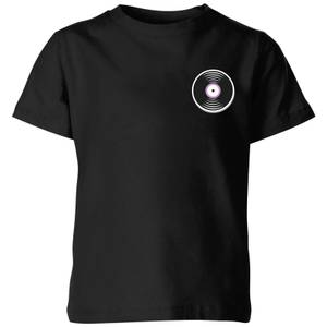 Small Vinyl Record Kids' T-Shirt - Black