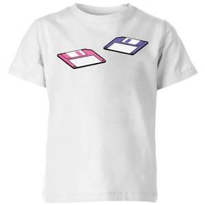 Floppy Disks Kids' T-Shirt - White