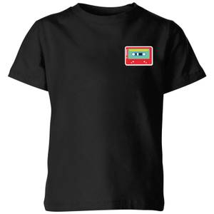 Small Cassette Tape Kids' T-Shirt - Black