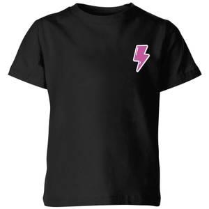 Small Lightning Bolt Kids' T-Shirt - Black
