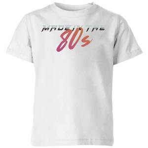 Made In The 80s Gradient Kids' T-Shirt - White