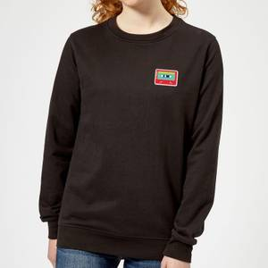 Small Cassette Tape Women's Sweatshirt - Black