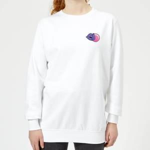 Small Bubblegum Women's Sweatshirt - White