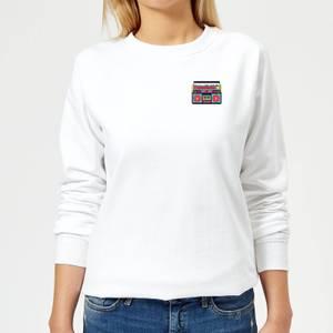 Small Boombox Women's Sweatshirt - White