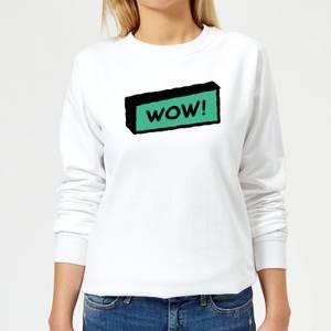 Wow! Women's Sweatshirt - White