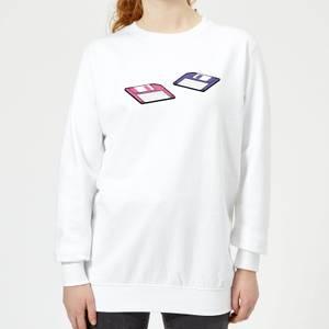 Floppy Disks Women's Sweatshirt - White