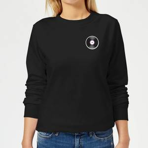 Small Vinyl Record Women's Sweatshirt - Black