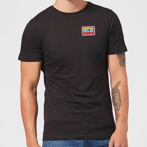 Small Cassette Tape Men's T-Shirt - Black