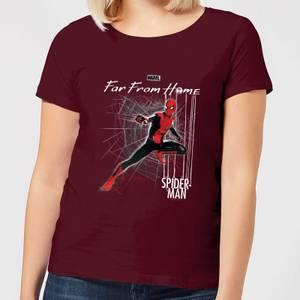 Spider-Man Far From Home Web Tech Women's T-Shirt - Burgundy