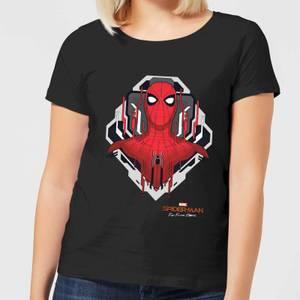 Spider-Man Far From Home Web Tech Badge Women's T-Shirt - Black