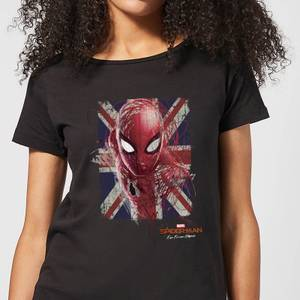 Spider-Man Far From Home British Flag Women's T-Shirt - Black