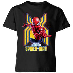 Spider Man Far From Home Friendly Neighborhood Spider-Man Kids' T-Shirt - Black