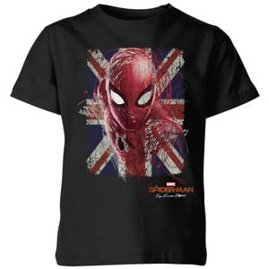 Spider-Man Far From Home British Flag Kids' T-Shirt - Black