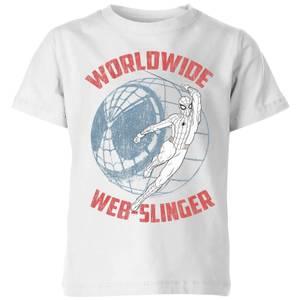 Spider-Man Far From Home Worldwide Web Slinger Kids' T-Shirt - White