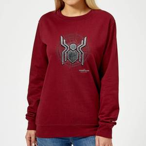 Spider-Man Far From Home Web Icon Women's Sweatshirt - Burgundy