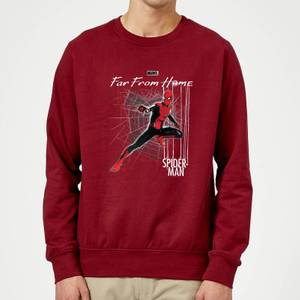 Spider-Man Far From Home Web Tech Sweatshirt - Burgundy