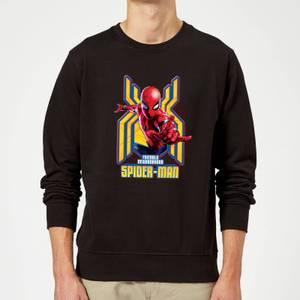 Spider Man Far From Home Friendly Neighborhood Spider-Man Sweatshirt - Black
