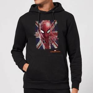 Spider-Man Far From Home British Flag Hoodie - Black