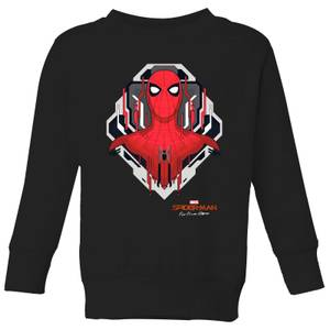Spider-Man Far From Home Web Tech Badge Kids' Sweatshirt - Black