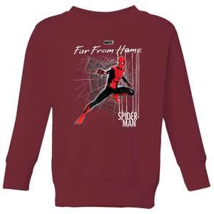 Spider-Man Far From Home Web Tech Kids' Sweatshirt - Burgundy