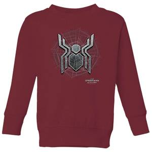 Spider-Man Far From Home Web Icon Kids' Sweatshirt - Burgundy