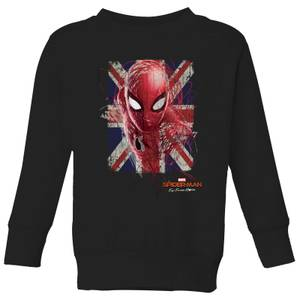 Spider-Man Far From Home British Flag Kids' Sweatshirt - Black