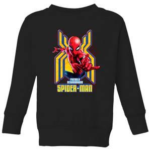 Spider Man Far From Home Friendly Neighborhood Spider-Man Kids' Sweatshirt - Black