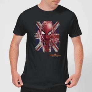 Spider-Man Far From Home British Flag Men's T-Shirt - Black