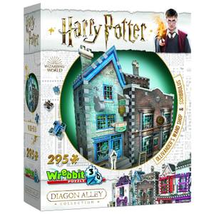 Harry Potter Diagon Alley Collection Ollivander's Wand Shop and Scribbulus 3D Puzzle (295 Pieces)