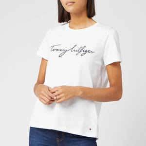Tommy Hilfiger Women's Heritage Crewneck Graphic T-Shirt - Classic White