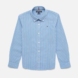 Tommy Kids Boys' Long Sleeve Stripe Shirt - Shirt Blue