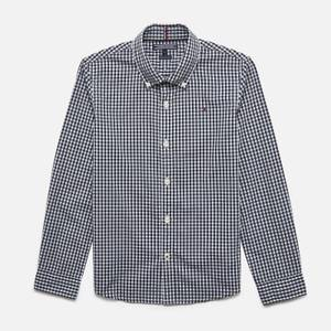 Tommy Hilfiger Boys' Long Sleeve Gingham Shirt - Sky Captain