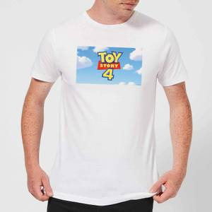 Toy Story 4 Clouds Logo Men's T-Shirt - White