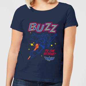 Toy Story 4 Buzz To The Rescue Women's T-Shirt - Navy