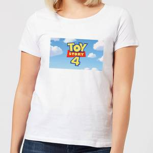 Toy Story 4 Clouds Logo Women's T-Shirt - White