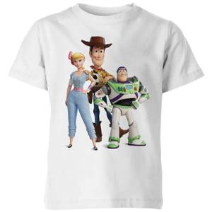 Toy Story 4 Woody Buzz And Bo Kids' T-Shirt - White