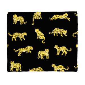 Black Cheetah Print Fleece Blanket